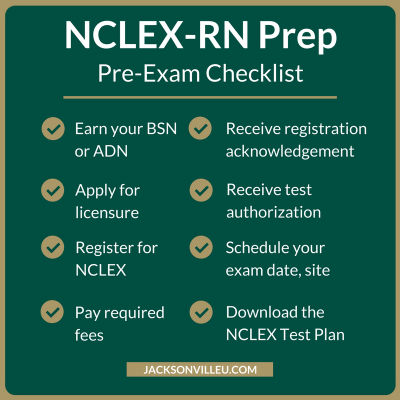 A list to help pass the NCLEX RN Exam