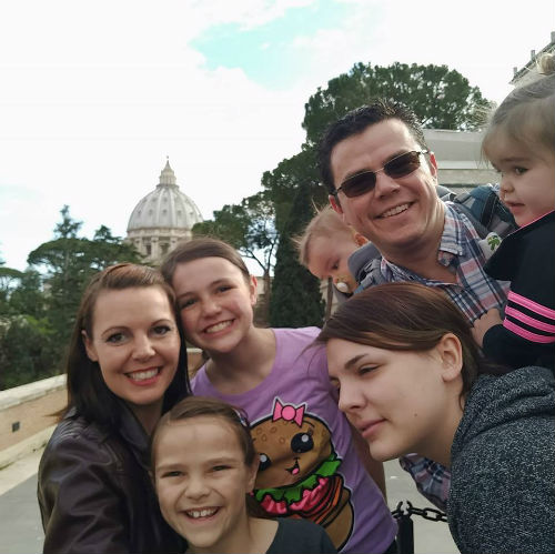 Lathrop family seeing the world.