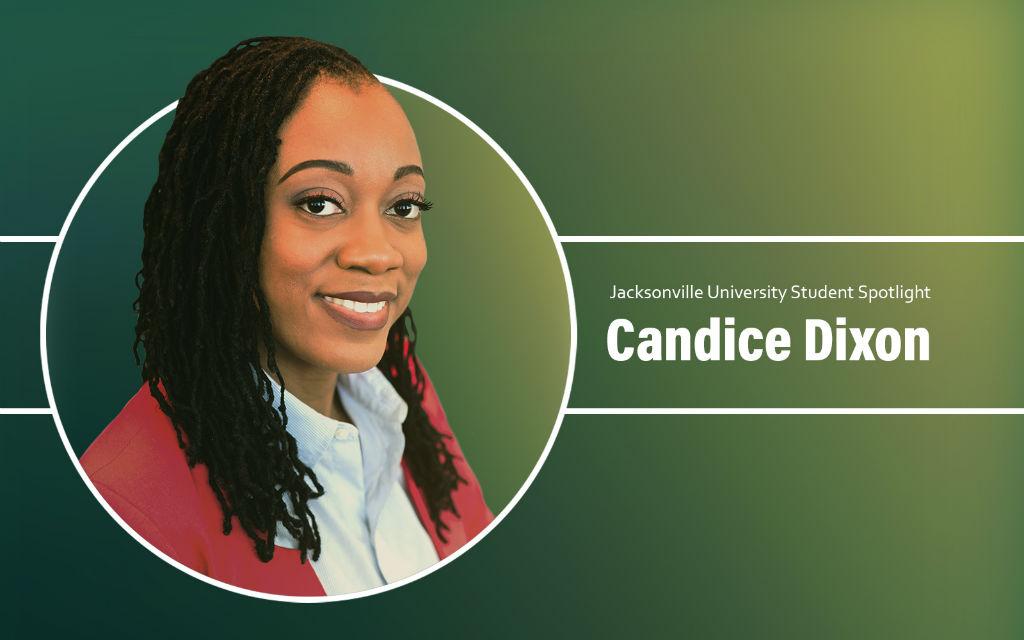 Student spotlight Candice Dixon, graduate of Masters in Science Health Informatics.